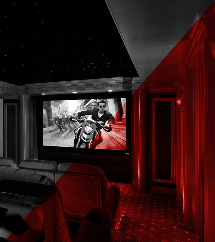 Home Theater Systems designed and installed by SAMM Sound, professionals in audio visual electronics.